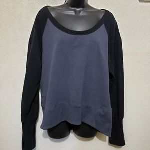 Zella two toned pullover sweatshirt